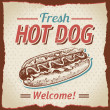 Vintage hot dogs background - Stock Vector