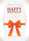 Happy birthday elegant design — Stockvector