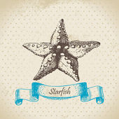 Starfish. Hand drawn illustration — Stock Vector