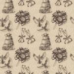 Seamless wedding pattern — Stock Vector
