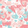 Royalty-Free Stock Vector Image: Seamless pattern with hearts