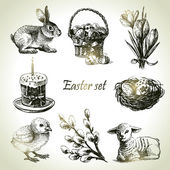 Easter set. Hand drawn illustrations — Wektor stockowy
