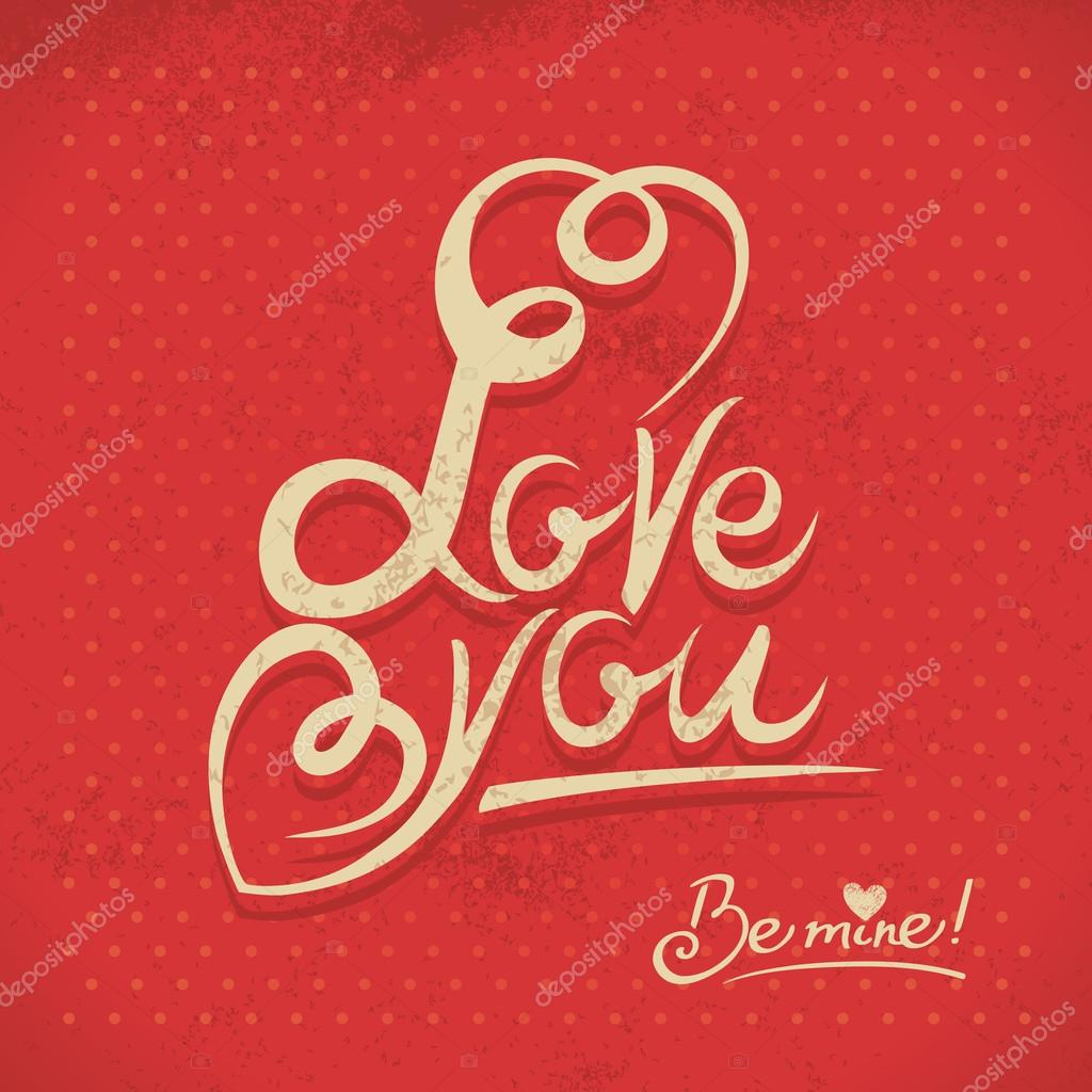 Happy Valentine's Day. Hand lettering in retro style — Stock Vector #19979115
