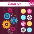 Floral set - Stock Vector