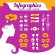 Fashion women's infographics — Stock Vector