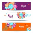 Royalty-Free Stock Imagen vectorial: Banners of abstract floral background