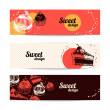 Sweet banners  — Stock Vector