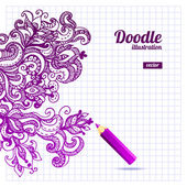 Doodle floral design — Stock Vector