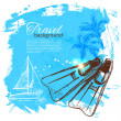 Vetorial Stock : Travel colorful tropical design. Splash blob background