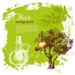 Vintage olive background. Hand drawn illustration — Stock Vector #22954612