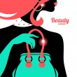 Royalty-Free Stock Vectorielle: Fashion woman silhouette