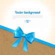 Elegant background with bow — Vektorgrafik
