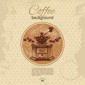 手描きビンテージ コーヒー背景。レストラン、カフェのメニュー, — ストックベクタ