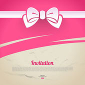 Abstract elegant design with paper bow — Vettoriale Stock