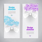 Abstraktní elegantní design s lukem papíru — Stock vektor