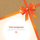 Elegant background with bow — Vettoriale Stock