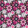 Floral seamless pattern. Seamless pattern can be used for wallpa - Stock Vector