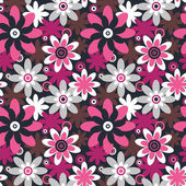 Floral seamless pattern. Seamless pattern can be used for wallpa — Stockvector