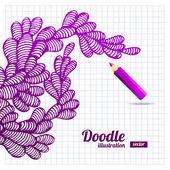 Doodle abstrato design — Vetorial Stock
