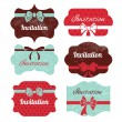 Stock Vector: Set of vintage frames. Stickers for wedding design