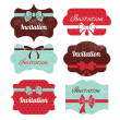 Set of vintage frames. Stickers for wedding design — Stock Vector