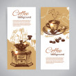 Banner set of vintage coffee backgrounds. Menu for restaurant, c — Stock Vector #24707279