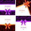 Set of card with gift bows. Elegant backgrounds with bow — Stock Vector