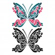 Beautiful butterfly tattoo. Artistic pattern in butterfly shape. — Stock Vector #25044523