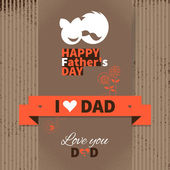 Happy Father's Day vintage retro card. Set of type font and sym — Stock Vector