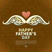 Happy Father's Day vintage retro card. Abstract silhouette of mu — Stock Vector