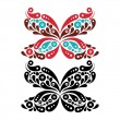 Royalty-Free Stock Vector Image: Beautiful butterfly tattoo. Artistic pattern in butterfly shape.