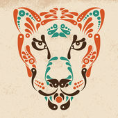Panther tattoo, symbol decoration illustration — Stock Vector