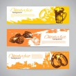 Banners of Oktoberfest beer design. Hand drawn illustrations — Stock Vector #26245583