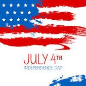 American flag splash background. Independence Day design — Stock Vector
