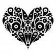 Decorative heart tattoo  — Stock Vector
