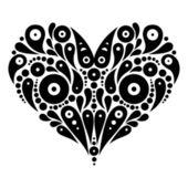 Decorative heart tattoo — Stock Vector