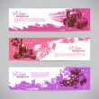 Stock Vector: Banners of wine vintage background. Hand drawn illustrations