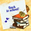 Back to school vector design. Hand drawn vintage background — Stock Vector #28664035