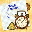 Back to school vector design. Hand drawn vintage background — Stock Vector #28664051