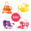 Set of fashion shopping icons. Sale elegant stylish signs — Stock Vector