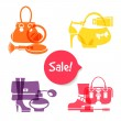 Stock Vector: Set of fashion shopping icons. Sale elegant stylish signs