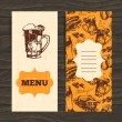 Menu for restaurant, cafe, bar. Oktoberfest vintage background.  — Stock Vector