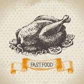 Sztuka szybkiej obsługi tło. ilustracja. — Wektor stockowy