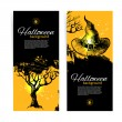 Set of Halloween banners. Hand drawn illustration — Stock Vector #29721979