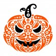 Halloween pumpkin. Decorative pattern silhouette of pumpkin — Stock Vector