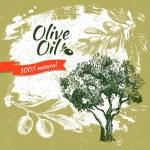 Vintage olive background. Hand drawn illustration — Stock Vector #30174921