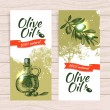 Banner set of vintage olive background splash backgrounds — Stock Vector #31069967