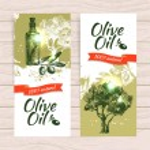 Banner set of vintage olive background splash backgrounds — Stock Vector #31069971