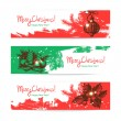 Set of Christmas banners. Hand drawn illustrations — Stock Vector #31070155