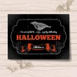 Halloween invitation. Vintage hand drawn illustration — Stock Vector